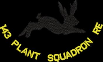 143 Plant Squadron RE Embroidered Polo Shirt